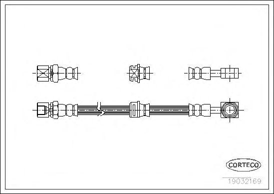 Тормозной шланг CORTECO 19032169