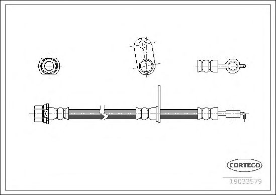 Тормозной шланг CORTECO 19033579