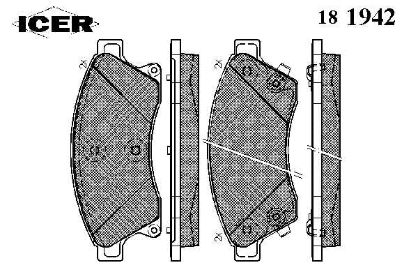 Тормозные колодки ICER 181942
