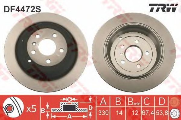 Тормозной диск TRW DF4472S
