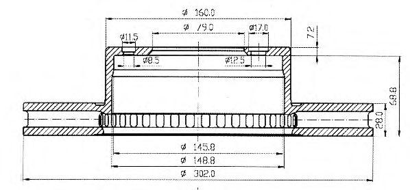 Тормозной диск QH International BDC3645