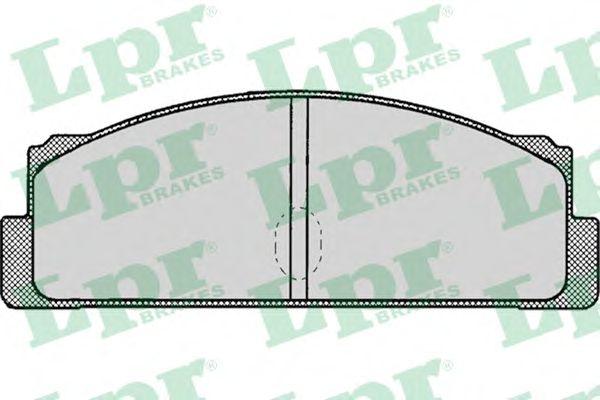Тормозные колодки LPR 05P002