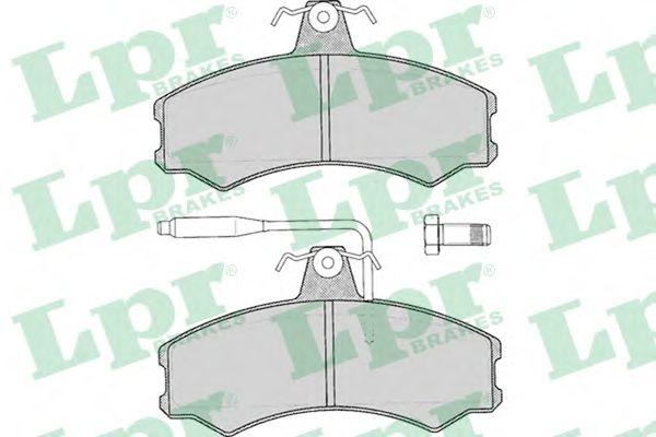 Тормозные колодки LPR 05P012