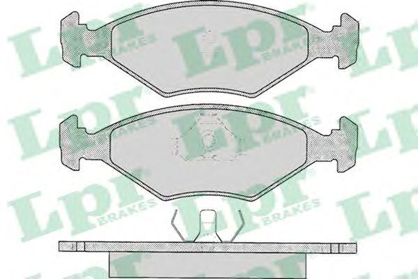 Тормозные колодки LPR 05P016