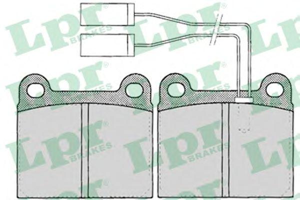Тормозные колодки LPR 05P023