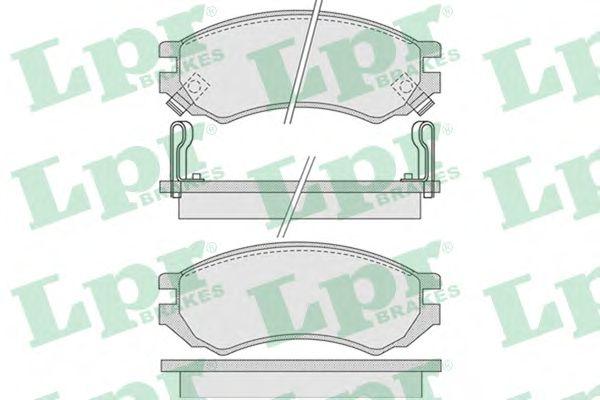 Тормозные колодки LPR 05P1008