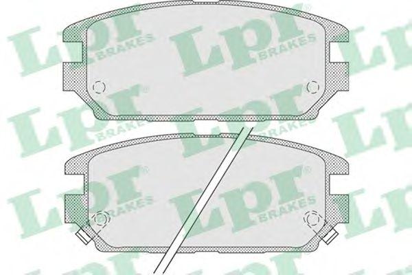 Тормозные колодки LPR 05P1016