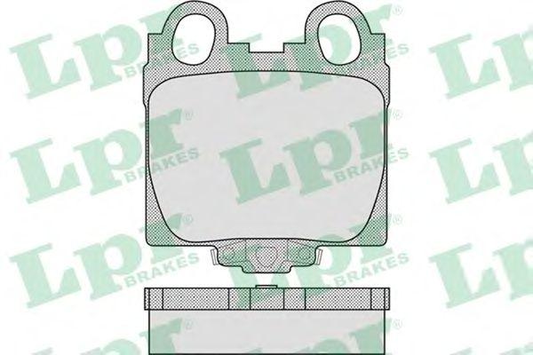 Тормозные колодки LPR 05P1051