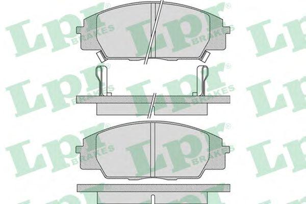 Тормозные колодки LPR 05P1070