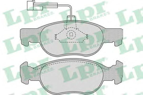Тормозные колодки LPR 05P1075