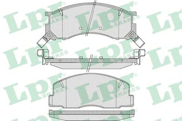 Тормозные колодки LPR 05P1126
