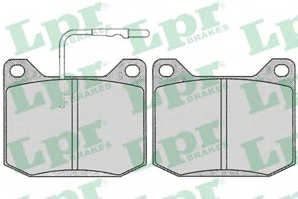 Тормозные колодки LPR 05P118