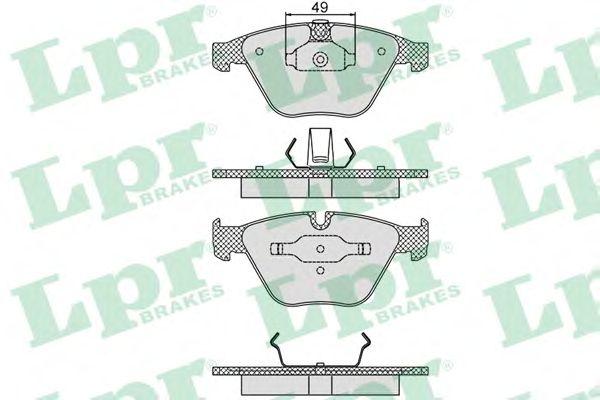 Тормозные колодки LPR 05P1193