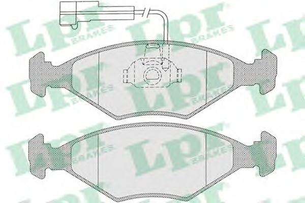 Тормозные колодки LPR 05P1204