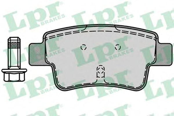 Тормозные колодки LPR 05P1224