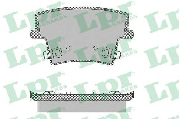 Тормозные колодки LPR 05P1400