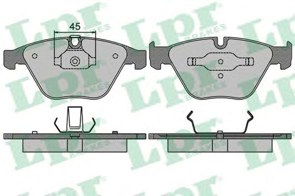 Тормозные колодки LPR 05P1510