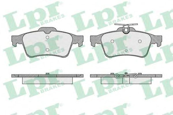 Тормозные колодки LPR 05P1637