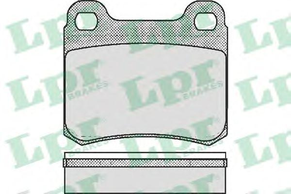Тормозные колодки LPR 05P181