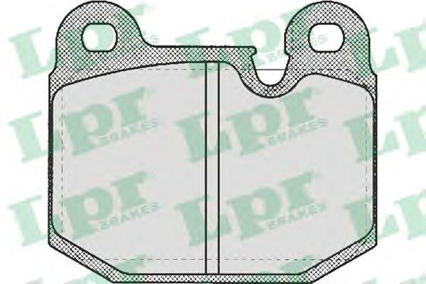 Тормозные колодки LPR 05P210