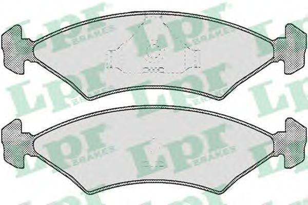 Тормозные колодки LPR 05P232