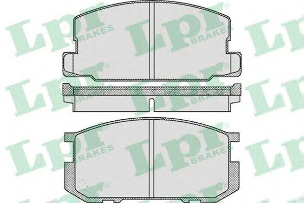 Тормозные колодки LPR 05P416