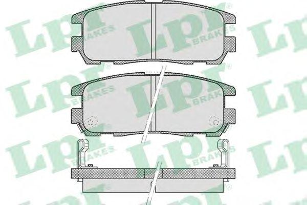 Тормозные колодки LPR 05P524