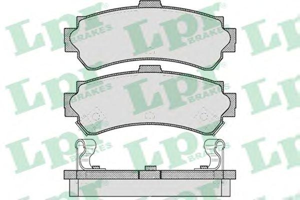 Тормозные колодки LPR 05P624