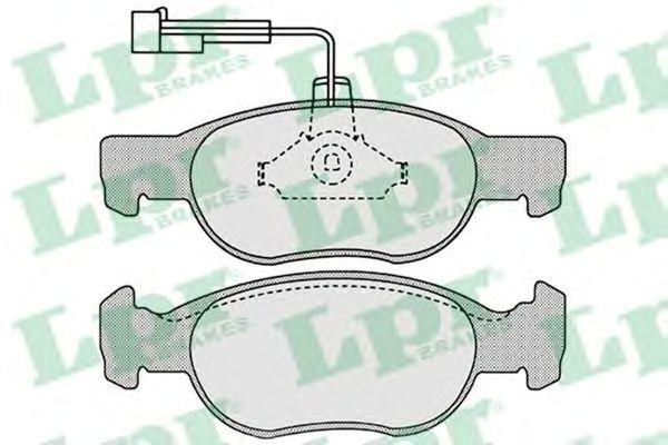 Тормозные колодки LPR 05P652