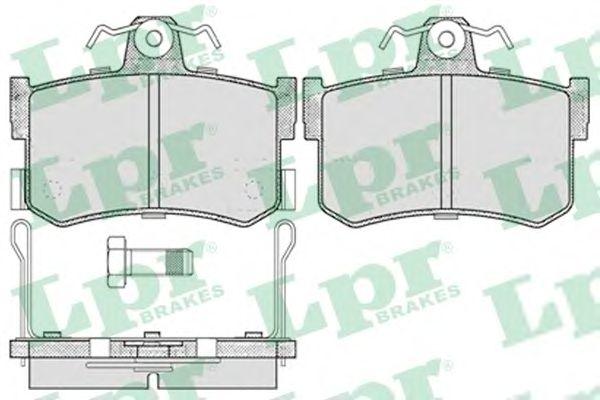 Тормозные колодки LPR 05P654