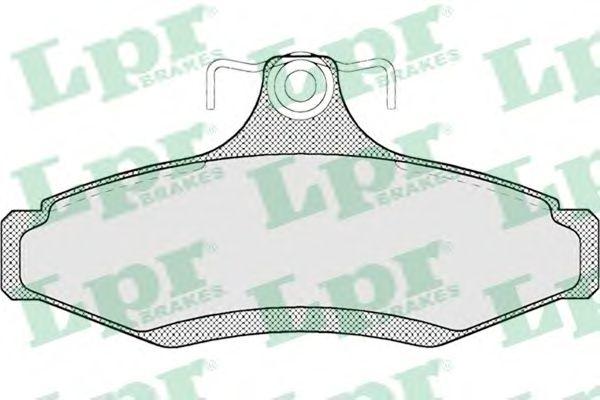 Тормозные колодки LPR 05P694