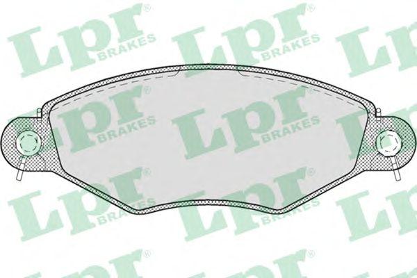 Тормозные колодки LPR 05P708