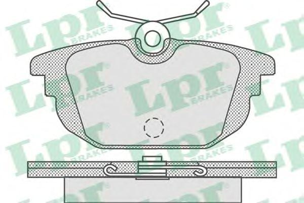 Тормозные колодки LPR 05P736