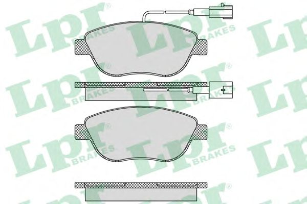 Тормозные колодки LPR 05P764