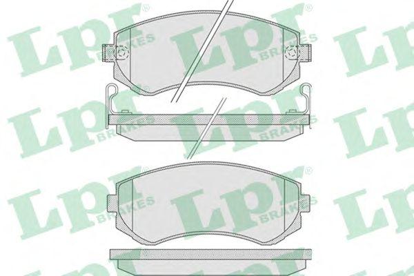 Тормозные колодки LPR 05P856