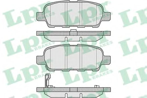 Тормозные колодки LPR 05P857