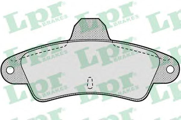 Тормозные колодки LPR 05P870