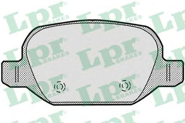 Тормозные колодки LPR 05P871