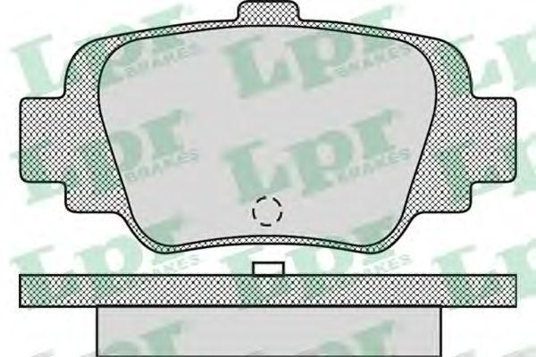 Тормозные колодки LPR 05P874