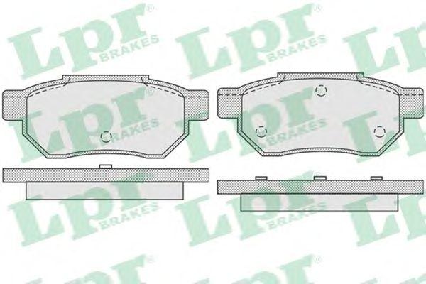 Тормозные колодки LPR 05P928