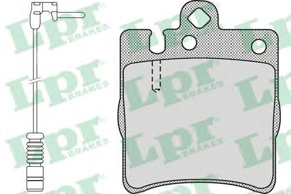 Тормозные колодки LPR 05P957A