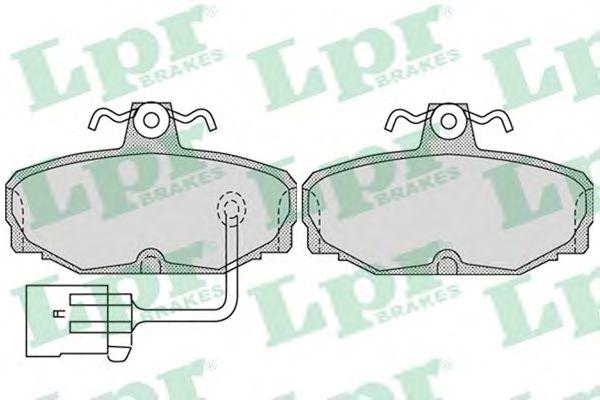Тормозные колодки LPR 05P987