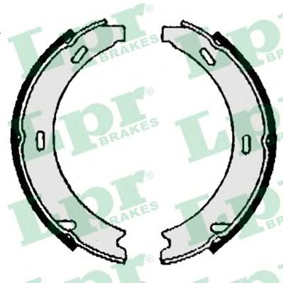 Тормозные колодки ручника LPR 06870