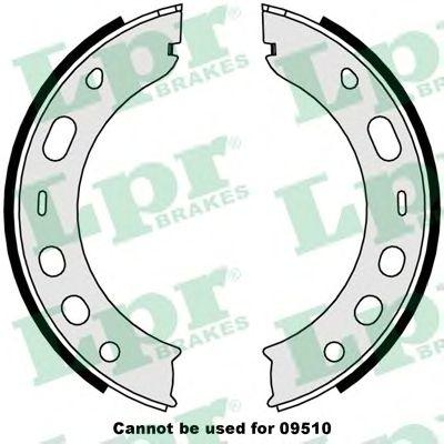 Тормозные колодки ручника LPR 09000