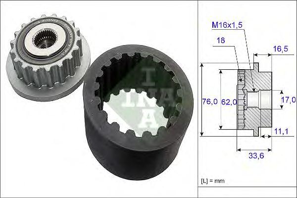 Комплект эластичной муфты сцепления INA 535 0186 10