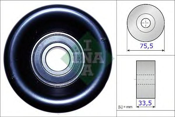 Натяжной ролик поликлинового ремня INA 531 0827 10