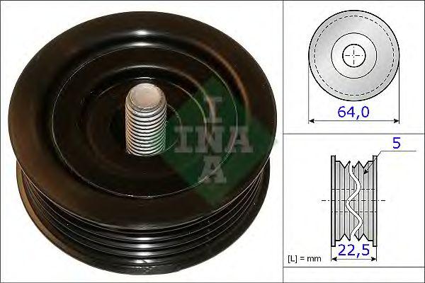 Направляющий / паразитный ролик  поликлинового ремня INA 532 0642 10
