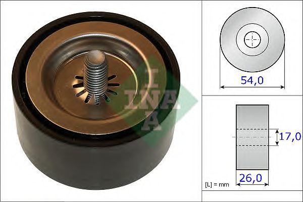 Направляющий / паразитный ролик  поликлинового ремня INA 532 0672 10