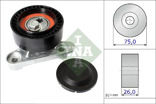Натяжной ролик поликлинового ремня INA 531 0871 10