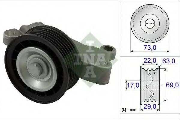 Направляющий / паразитный ролик  поликлинового ремня INA 532 0649 10
